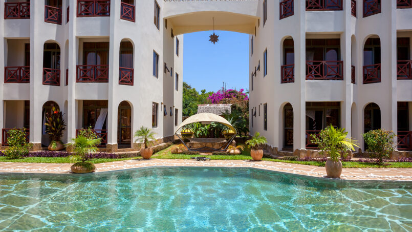Amani Luxury Apartments Diani Beach exterior view