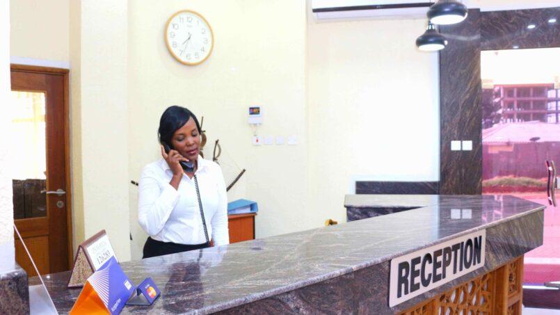 Prinias Hotel Kisumu reception